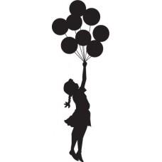Niña con globos de Bansky